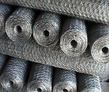 "Wire Netting 10 Metres x 24"" Galvanised Chicken, Rabbit, Garden DIY Mesh Fencing"