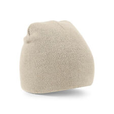 Supersoft Beechfield b44 Plain Knitted Beanie Hat - Stone - 100% acrylic - lot