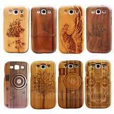 Fashion 100% Real Bamboo Wood Wooden Case Cover fr Samsung Galaxy S III S3 I9300
