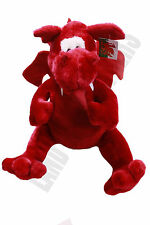 WELSH WALES CYMRU RED DRAGON TEDDY BEAR SOFT TOY MASCOT 4 SIZES