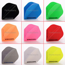 10 x SETS AMAZON DART FLIGHTS STANDARD SOLID PLAIN EXTRA TOUGH - Choose Colour