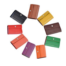 Genuine Cow Leather Woman Lady ID Credit Card Bag Case Holder Wallet Pocket 305