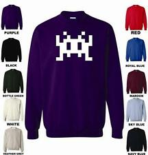Retro Space Invaders Kids Jumper Sweatshirt Birthday Gift Gaming Top Style 14