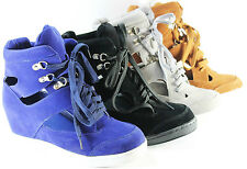 Women Shoes Wedge Sneaker Velcro Hollow Wedges Sneakers Fashion Summer Shoes