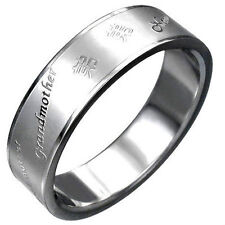 Stainless Steel Gromutter Abuela Grandmother in Diferrent Languages Ring (ABU)