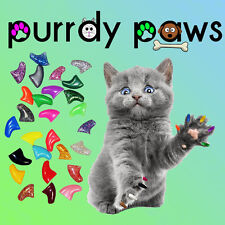 100 Soft Nail Caps For Cat Claws * Purrdy Paws - KITTEN SMALL MEDIUM LARGE - USA
