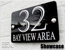 ACRYLIC HOUSE SIGN PLAQUE - DOOR NUMBER & NAME