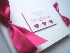 HANDMADE GUEST BOOKS & PHOTO ALBUMS- 'LOVE' DESIGN -  PERSONALISED - IN ANY COL