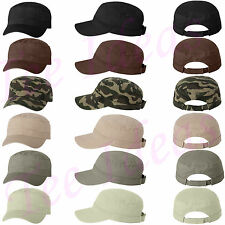 Valucap Mens Fidel Cap Cadet  Military Style Hat 100% chino twil VC800