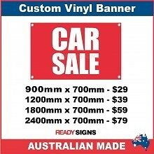 CAR SALE - CUSTOM VINYL BANNER SIGN - Australian Made