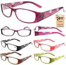 Plastic Color Reading Glasses with Swirl Dotted Design