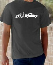 Evolution of Man, Rover P6 (with spare wheel) t-shirt