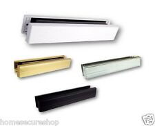 "uPVC Door Letterbox Slimline 12"" Letterbox - White, Gold, Silver, Chrome, Black"