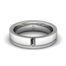 Diamond Boutique New Mens 9K White Gold Diamond Wedding Band Ring