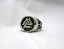 The Vikings Valknut Ring Warriors Knot Nordic God Odin Knot of the Fallen Ring