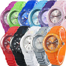 Womens Mens Classic Gift Colorful Silicone Band Jelly Wrist Watch On Sale B62A