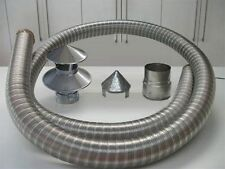 Flexible Multifuel Class1 Flue Liner Pack Kit Stainless Steel Stove Hanging Cowl