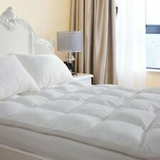 LUXURY DUCK FEATHER MATTRESS TOPPER QUILTED PROTECTOR OR PILLOW ALL SIZES