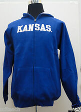 Brand New Youth (All Sizes) Kansas Jayhawks Blue Full Zipper Hooded Sweatshirt