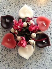 Floating heart candles - set of 4 - wedding decorations or gifts