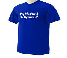 My Weekend Agenda Skiing Skier Ski Snow Sport T-Shirt
