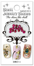 BN☀Japan-SHELL JEWELRY NAIL STONES All♪15styles