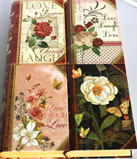 pUNCH sTUDIO  Choice of Petite Gold Foil Rose Floral Book Box