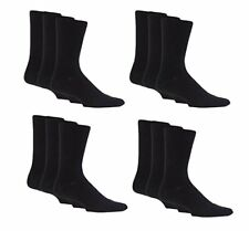 3 PAIRS OF MENS PLAIN COTTON SOCKS IN BLACK OR MIXED COLOUR PACKS 6-11