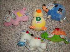 Kids Preferred Smarty Kids Plush  Zebra Elephant Hedgehog Turtle Duck Rattle NWT