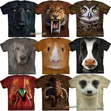 Mountain Big Animal Face Owl Hamster Pig Sabertooth Tiger  T-Shirt 3 ON SALE!!!!