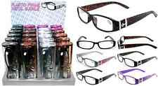 Plastic Color Reading Glasses with Buckle Design & Hard Plastic Case