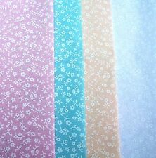 Dolls House Craft Fabric White Daisy Flower Material PolyCotton