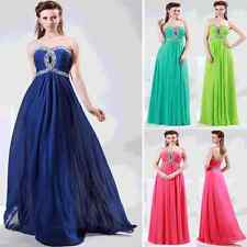 HOT Womens Formal Evening Party Long Prom Bridesmaid Wedding Cocktail Ball Dress