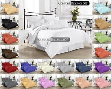 Hotel New Brand Queen 3pc Duvet Set 1000TC 100%Egyptian Cotton IN All Color