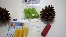 Beeswax spell candles set of 3 - inc colour meanings leaflet