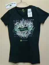 Womens Black John Deere Tractor Girl Foil T-Shirt