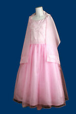 Flower Girls Pink Organza Wraps for Formal Bridesmaid Party Girl Dresses