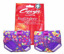 NIP New Capezio Jelz FootUndeez Shoe Foot Underwear Groovy Peace Heart Adult