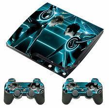 Stickers Skins Playstation 3 Ps3 Slim Perso Tron - Ref : 0677