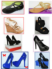 WHOLESALE  Small LOT  womens high heel platform wedge pump sandals flat shoes