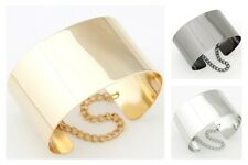 Gorgeous Gold, Silver or Gunmetal Cuff Style Chunky Statement Bracelet.
