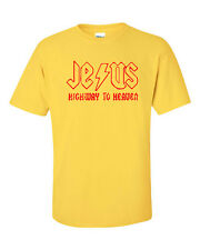 Jesus Highway to Heaven AC/DC CHRIST CHRISTIAN CONSERVATIVE Men's Tee Shirt33