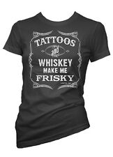 Women's Cartel Ink Tattoos and Whiskey Make Me Frisky Tee