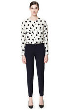 Zara New Collection 2013 Blue Navy Belted Trousers Size XS NWT