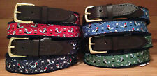 "Vineyard Vines ""Slalom Snow Ski"" Club Belt - Winter Sports; Blue, Red, Green"