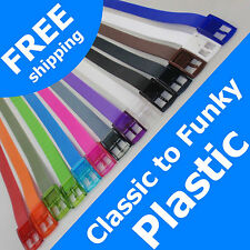 CLASSIC to FUNKY Rubber Vinyl Plastic Jelly Silicone Suit Casual Belt Buckle