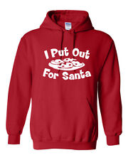 I Put Out for Santa Cookies Food Merry Christmas Funny Xmas Unisex HOODIE