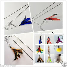 Cat toy Bell Feather refill Teaser Wand 90cm 2 part easy storage