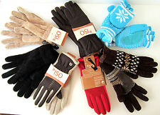 ISOTONER WMNS WINTER GLOVES, CUT MITTENS, STRETCHY GLOVES NEW SIZE ONE FITS MOST