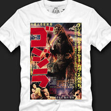 "mens ""GODZILLA MOVIE POSTER"" graphic t-shirts and tees,size S,M,L,XL,2XL"